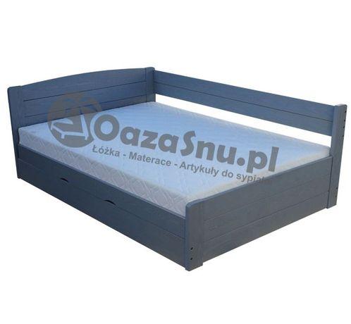 Łóżko z pojemnikiem otwierane na bok i pełnymi szczytami LOCA 140x200