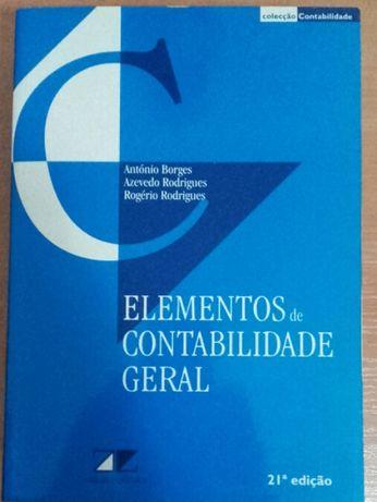 """Livro - """"Elementos Contabilidade Geral"""""""