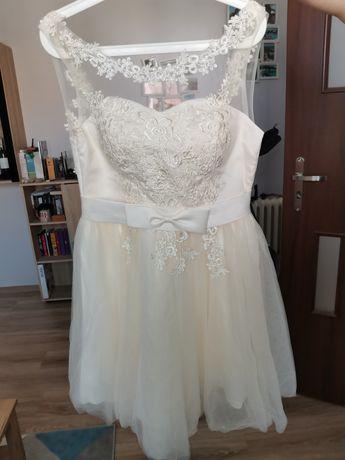 Suknia kremowa ślubna ślub cywilny druhna