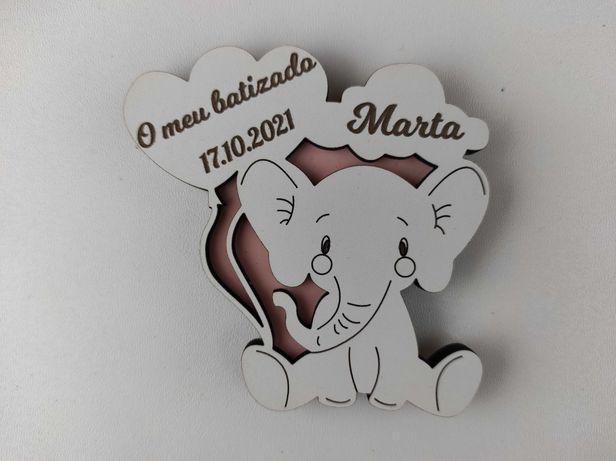 Lembrança Elefante com Balões e Nuvem