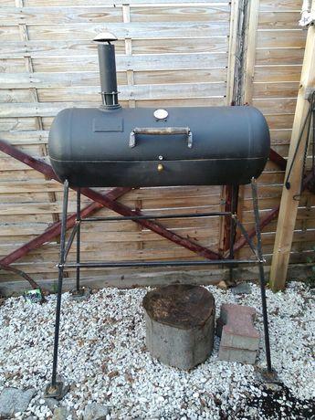 Duży Grill węglowy drzewny vintage BBQ