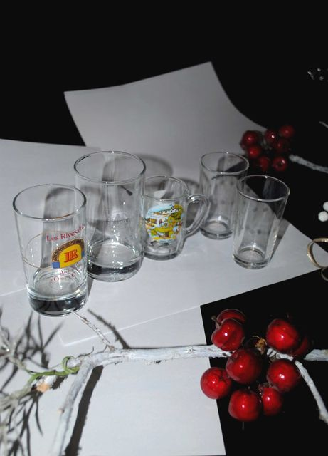 Набор 5 шт Стаканы CERVE Италия  Langs  стопки набор лот  бокал