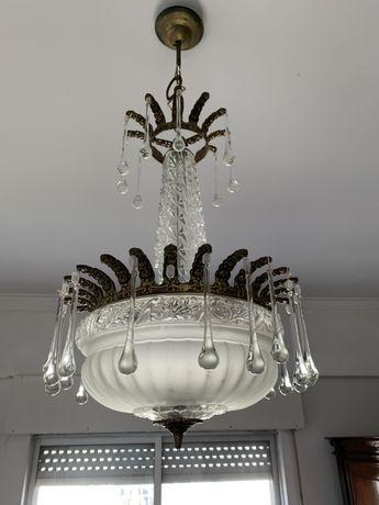 Candeeiro lustre vintage