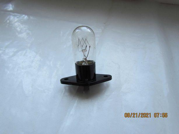 Лампочка в корпусе для СВЧ печи 20Вт 230В Т170 новая Г-образные клемма