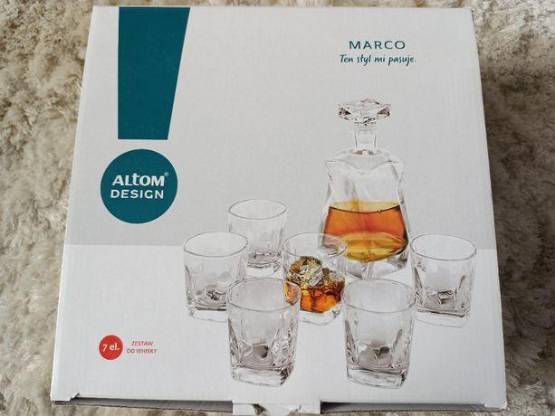Zestaw do whisky ALTOM Design Marco karafka + 6 szklanek NOWE