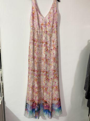 Очень красивое летящее шелковое платье Who is Who. Италия.