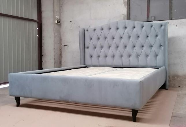 Łóżko tapicerowane pikowane sypialnia chesterfield 140/160/180 x 200