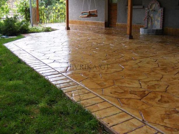 Штампований бетон, промислові бетонні підлоги