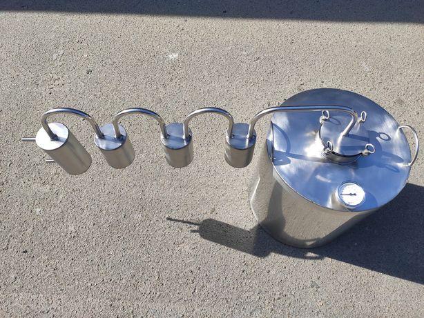 Дистиллятор на 30 литров с тремя сухопарниками,дистилятор