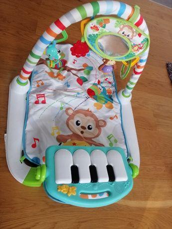 Interaktywna mata piankowa z pianinkiem i zabawkami