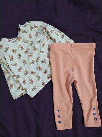 Кофта лосіни для дівчинки 6-9 міс. Продається набором