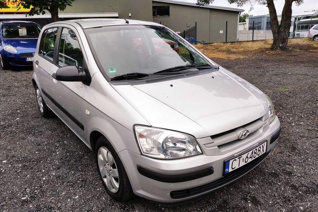 Hyundai GETZ 2004 rok 1.1 Benzyna 62 kM 172200 km KLIMA zarejestrowany