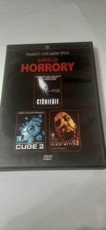 Pakiet 3 filmow dvd kolekcja horrory