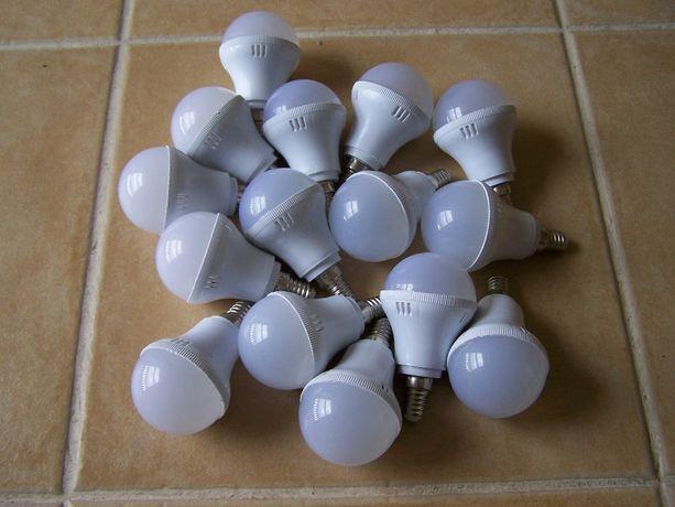 Lote lâmpadas NOVAS LED 5W - 15 unidades (iluminação candeeiro casa)