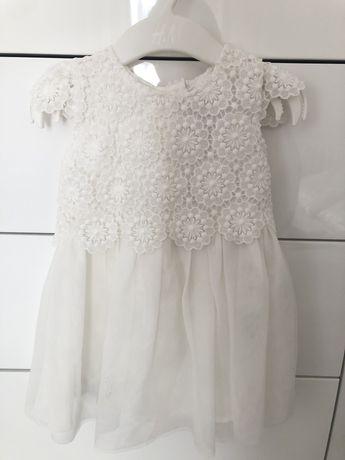 Koronkowa sukienka tiul 74 chrzest Komunia early days