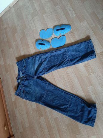 spodnie jeansy na motor 7xl
