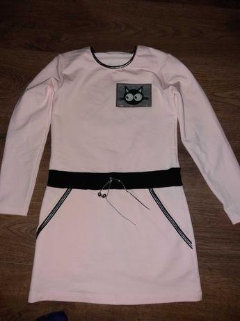 Sukienka dla dziewczynki rozmiar 140 i koszula rozmiar 134