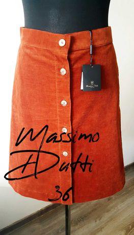 Massimo Dutti Sztruksowa spódnica 36