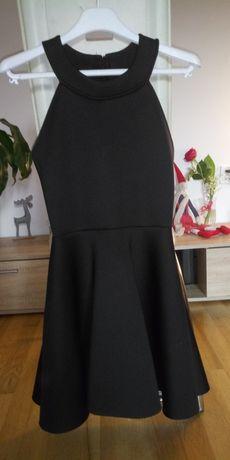 Elegancka czarna sukienka r 36