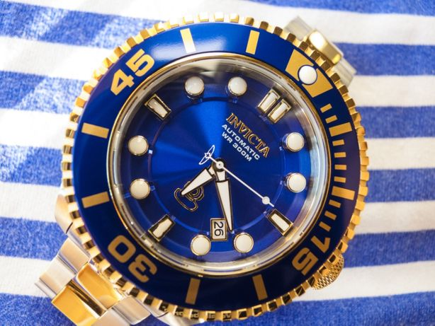 Часы INVICTA Pro Diver Automatic Blue Dial Two-tone Men's Watch ref.