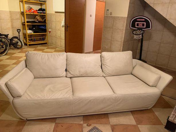 Skórzana kanapa - sofa rozkładana