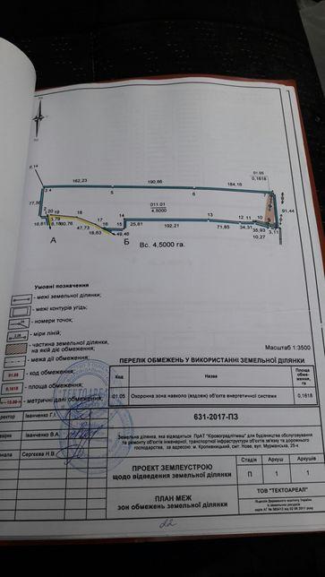 Продам комплекс строений 4,5га в Кропивницком