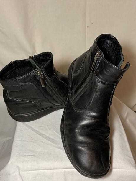 Кожаные ботинки весна-осень / демисезонные на мальчика bistfor