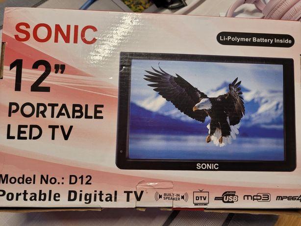 """Telewizor 12'"""" SONIC komplet z anteną do kampera, jachtu, przyczepy,"""