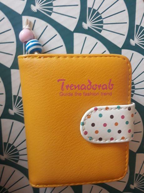 Nowy wiosenny portfel w kolorze miodowym