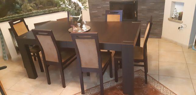 Zestaw stół rozkładany + krzesła