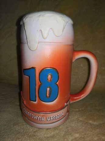 Skarbonka 18 urodziny gliniana na osiemnastke duże piwo