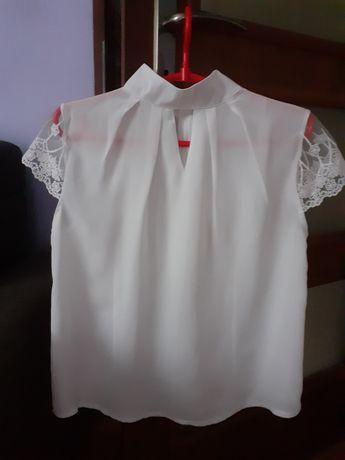Elegancka Biała bluzka L