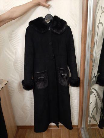 Тёплая дублёнка пальто размер 46-48