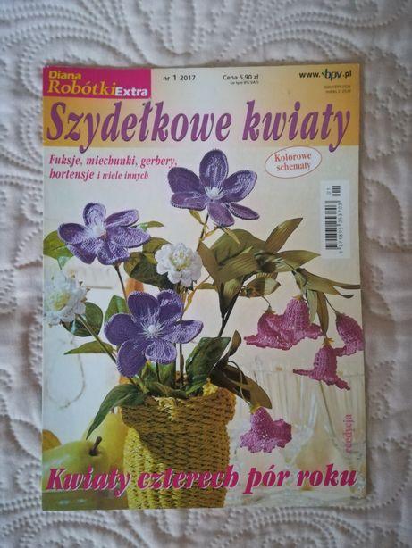 Czasopismo - Szydełkowe kwiaty, szydełkowanie. NOWE. Polecam