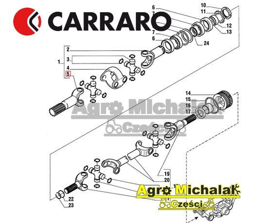 Półoś krótka carraro STEYR CVT 6140, 9105 , CASE CS100,150, MX100,