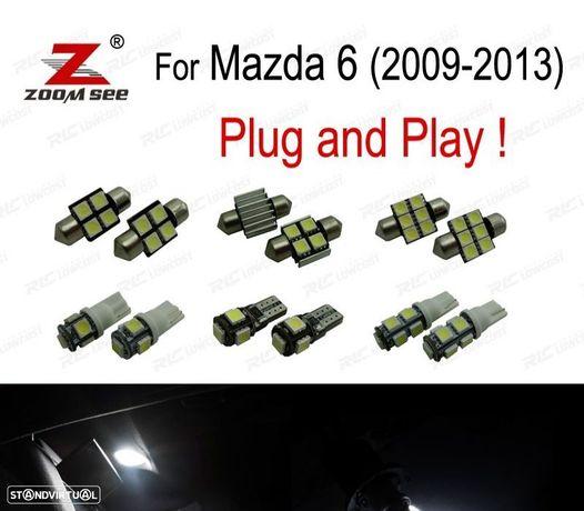 KIT COMPLETO DE 7 LÂMPADAS LED INTERIOR PARA MAZDA 6 2009- 2013