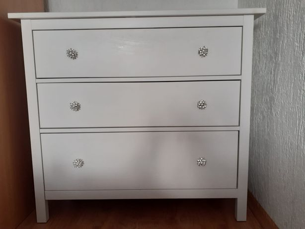 Komoda IKEA Hemnes biała sypialnia 3 szuflady