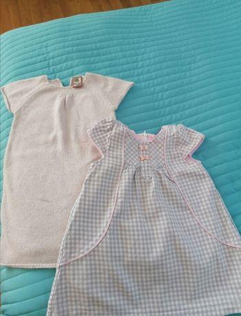 Sukienki 86 Dany Quadri foglio dzianina Krata szary różowy