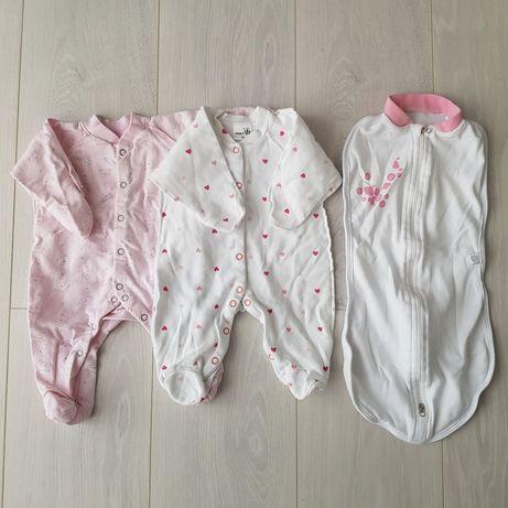 Комплект человечков + мешок-кокон для малышки 1-3 месяца