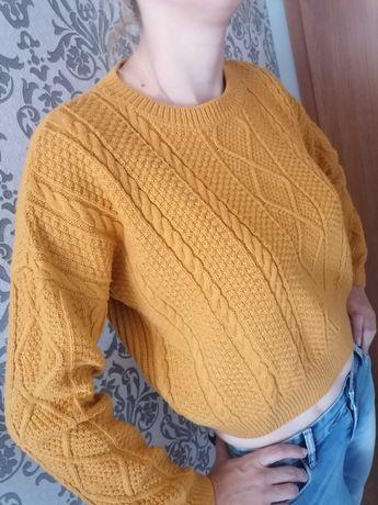 Sweter damski M musztarda