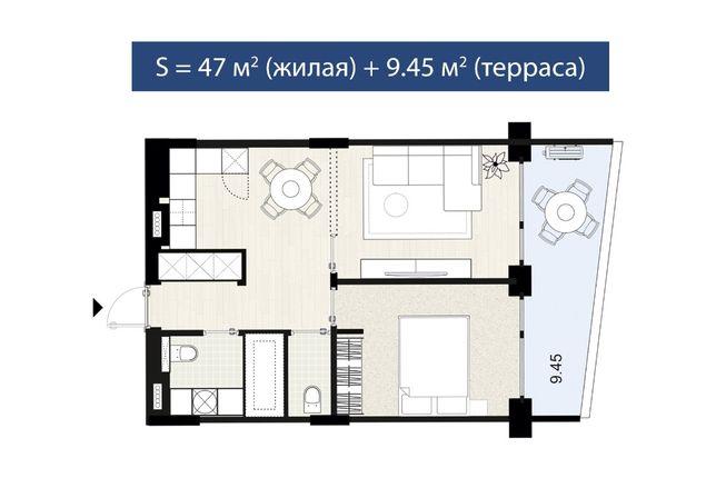 Старт продаж! Квартира у моря - 51,7 м2. Ограниченное предложение.