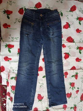 Зимние  штаны  катоновые   для   девочки   рост 128  см,  размер 32 .