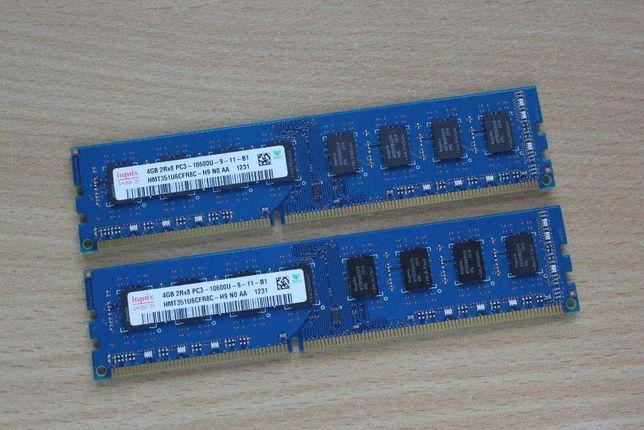 Pamięć RAM HYNIX DDR3 2x4 (8GB) PC3-12800, 1600MHz, NOWA gwarancja !