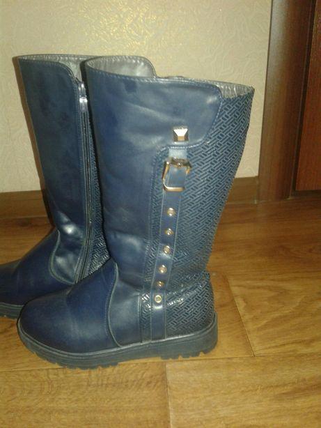 Сапожки ботинки зимние девичьи 22,5 см