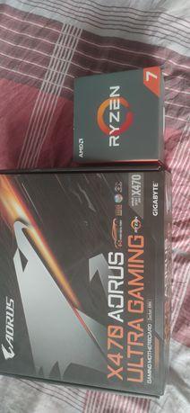 AMD RYZEN 3800XT +płyta głowna Gigabyte X470 AORUS ULTRA GAMING AM4