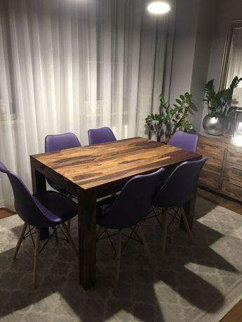Stół drewniany palisander rozkładany 120x200x80