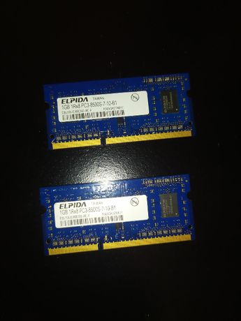 Оперативная память DDR3 2x1GB 1066 MHz, SODIMM