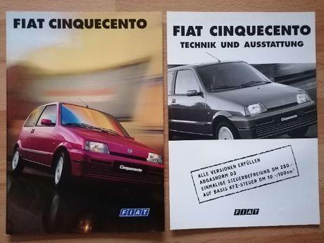 Prospekt Fiat Cinquecento S SX Soleil Suite Sporting + dane tech.