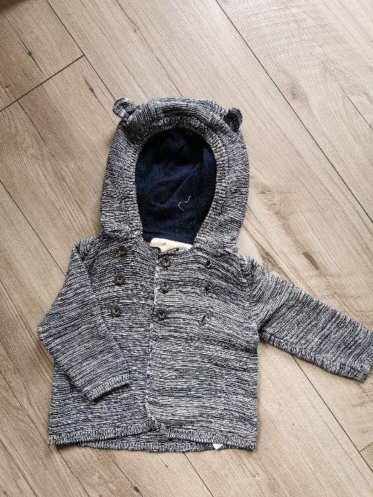 Rozpinany sweter z kapturem dla chłopca 62/68 Kraków - image 1