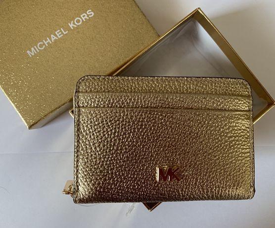 Michael Kors portfel złoty Pale Gold Nowy oryginalny